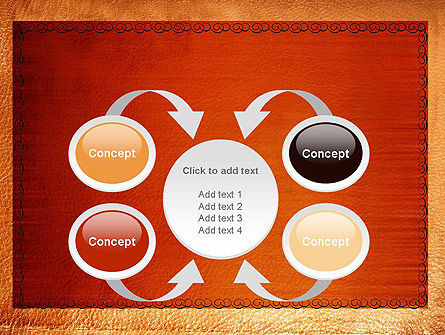 Leather Surface PowerPoint Template Slide 6