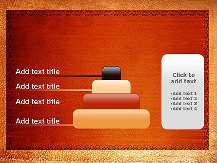 Leather Surface PowerPoint Template Slide 8