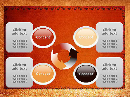 Leather Surface PowerPoint Template Slide 9