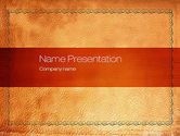Abstract/Textures: Leather Surface PowerPoint Template #10755