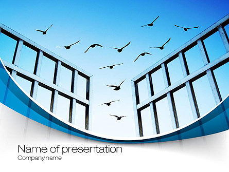 Open Iron Gate PowerPoint Template