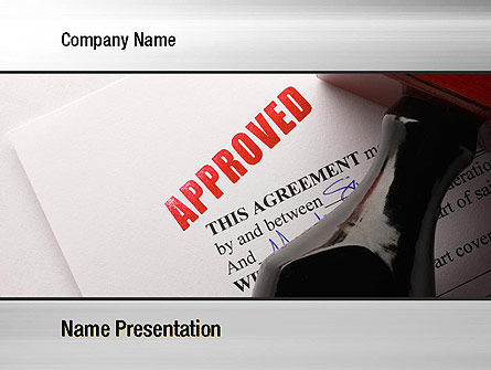 Approved PowerPoint Template