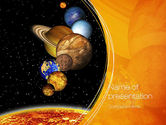 Technology and Science: The Solar System PowerPoint Template #10761