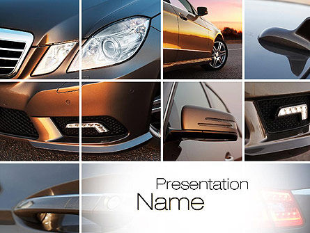 Careers/Industry: Car Design Van Het Exterieur PowerPoint Template #10763