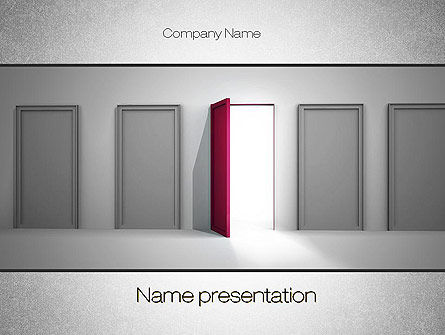 Opportunity to Success PowerPoint Template, 10764, Consulting — PoweredTemplate.com