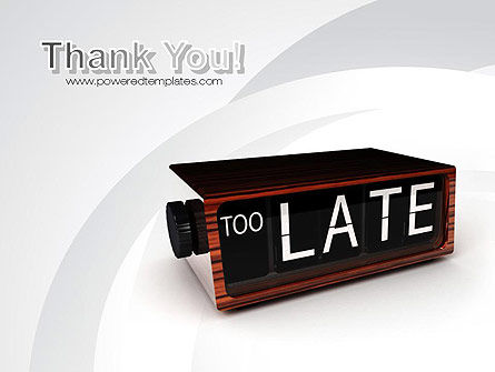Too Late Clock PowerPoint Template Slide 20