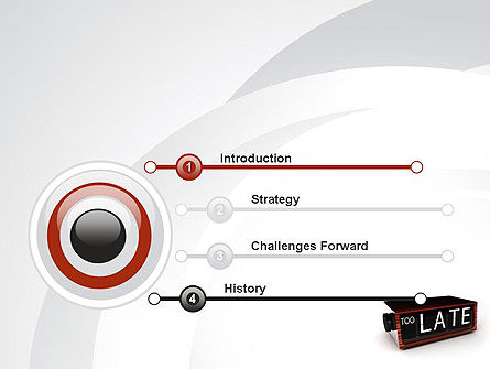 Too Late Clock PowerPoint Template, Slide 3, 10767, Business Concepts — PoweredTemplate.com