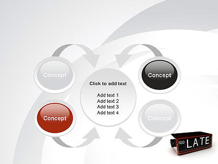 Too Late Clock PowerPoint Template Slide 6