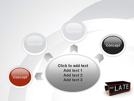 Too Late Clock PowerPoint Template Slide 7