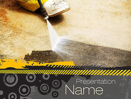 Pressure Washing PowerPoint Template, 10769, Careers/Industry — PoweredTemplate.com