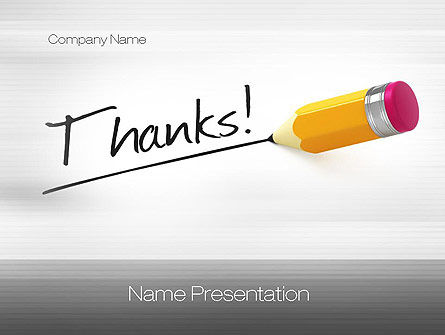 Thanks PowerPoint Template, 10770, Business Concepts — PoweredTemplate.com