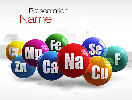 Multiminerals PowerPoint Template, 10771, Medical — PoweredTemplate.com