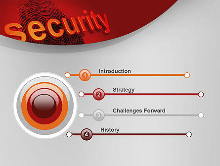 Fingerprint Security PowerPoint Template, Slide 3, 10772, Technology and Science — PoweredTemplate.com
