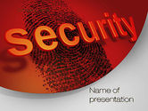Technology and Science: Fingerprint Security PowerPoint Template #10772