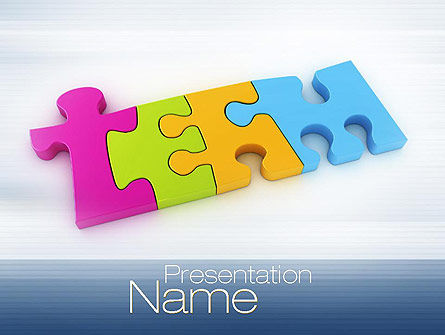 Team Puzzle PowerPoint Template, 10773, Education & Training — PoweredTemplate.com