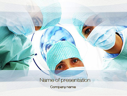 Surgeons PowerPoint Template, 10775, Medical — PoweredTemplate.com