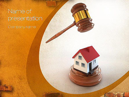 Property Law PowerPoint Template, 10778, Legal — PoweredTemplate.com