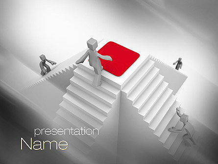 Careers/Industry: Winning Competition PowerPoint Template #10781