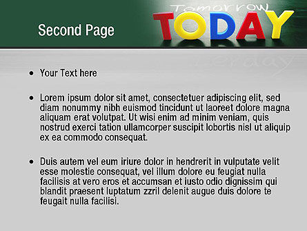 Today Yesterday and Tomorrow PowerPoint Template Slide 2