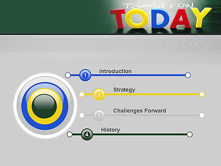Today Yesterday and Tomorrow PowerPoint Template, Slide 3, 10782, Business Concepts — PoweredTemplate.com