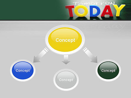 Today Yesterday and Tomorrow PowerPoint Template, Slide 4, 10782, Business Concepts — PoweredTemplate.com