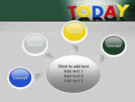 Today, Yesterday, and Tomorrow PowerPoint Template Slide 7