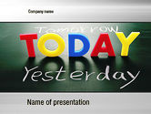 Business Concepts: Today, Yesterday, and Tomorrow PowerPoint Template #10782