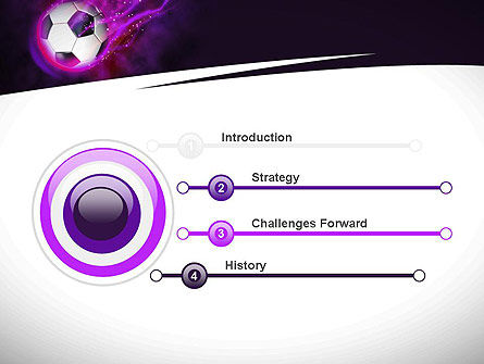 Soccer Ball on Purple PowerPoint Template, Slide 3, 10783, Sports — PoweredTemplate.com
