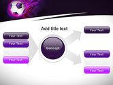Soccer Ball on Purple PowerPoint Template#15