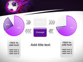 Soccer Ball on Purple PowerPoint Template#16