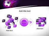 Soccer Ball on Purple PowerPoint Template#17