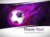 Soccer Ball on Purple PowerPoint Template#20