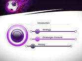 Soccer Ball on Purple PowerPoint Template#3