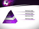 Soccer Ball on Purple PowerPoint Template#4