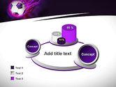 Soccer Ball on Purple PowerPoint Template#6