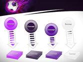 Soccer Ball on Purple PowerPoint Template#8