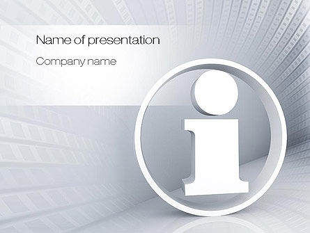 Careers/Industry: Information Services PowerPoint Template #10784