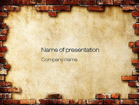 Brick Frame PowerPoint Template, 10787, Abstract/Textures — PoweredTemplate.com