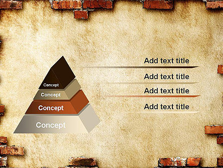 Brick Frame PowerPoint Template Slide 12