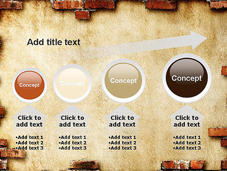 Brick Frame PowerPoint Template Slide 13