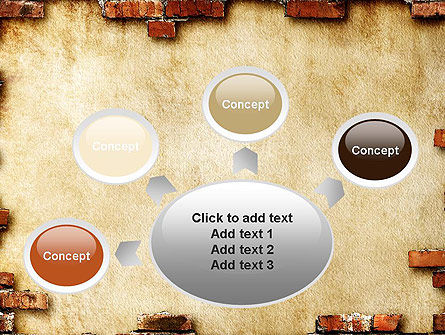 Brick Frame PowerPoint Template Slide 7