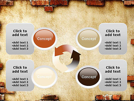 Brick Frame PowerPoint Template Slide 9