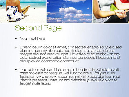 Yoga Collage PowerPoint Template, Slide 2, 10790, Sports — PoweredTemplate.com