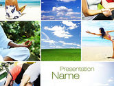 Sports: Yoga Collage PowerPoint Template #10790