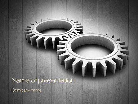 Interlocking Gears PowerPoint Template, 10792, Business Concepts — PoweredTemplate.com