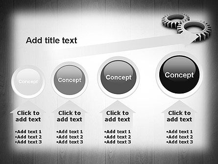 Interlocking Gears PowerPoint Template Slide 13