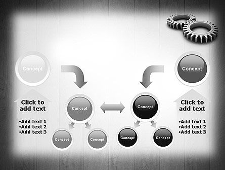 Interlocking Gears PowerPoint Template Slide 19