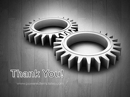 Interlocking Gears PowerPoint Template Slide 20
