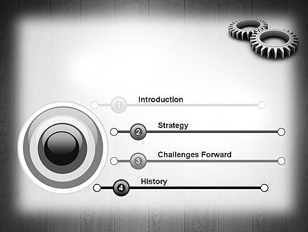Interlocking Gears PowerPoint Template Slide 3