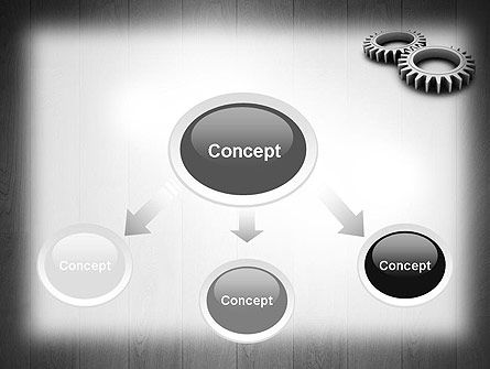 Interlocking Gears PowerPoint Template Slide 4